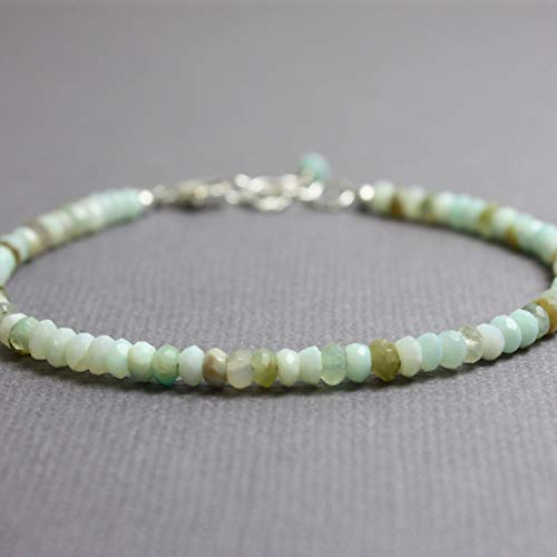 Peruvian Opal Bracelet-Adjustable 6.5
