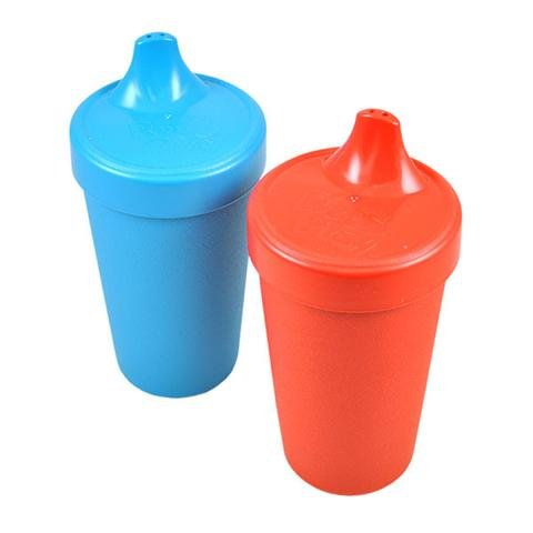 Re-Play 2-Pack Spill Proof Cups, Primary Red/Blue