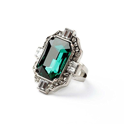 for cz obsede rings fashion gothic ring green jewelry steel dark stone men stainless item punk