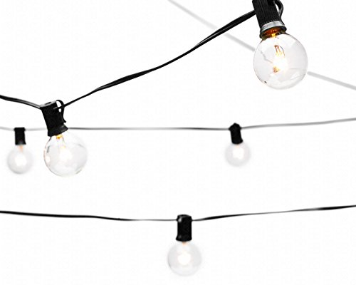 Deneve Globe String Lights With G40 Bulbs Connectable Outdoor Garden Party  Patio Bistro Market Cafe Hanging Umbrella Lamp Backyard Lights 100%  Guarantee On ...