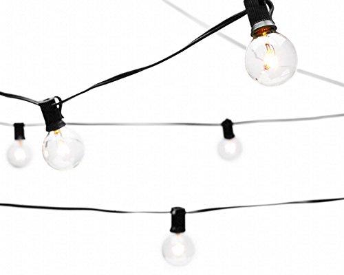 Amazon.com: Deneve Globe String Lights with G40 Bulbs (25ft ...