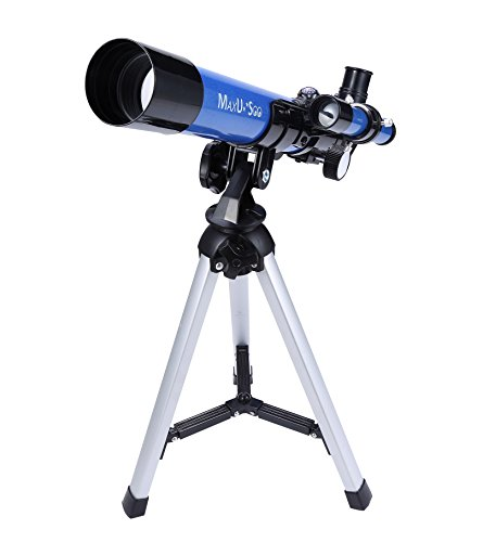 MaxUSee Kids Telescope 400x40mm with Tripod & Finder Scope, Portable Telescope for Kids & Beginners, Travel Scope with Moon Mirror, Stars & Moon map Included (Best Beginner Telescope For Kids)