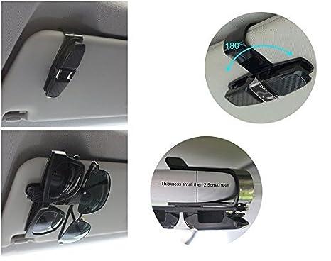 uctop Store 2/Sets of Carbon Glas Sunglass Halter Rack Auto Sonnenblende Clip Halter Sonnenbrille Halterung Clip Gl/äser Cage Aufbewahrung