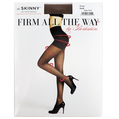 Berkshire Women's Firm All The Way The Skinny Pantyhose 5050, Black, - Pantyhose Firm