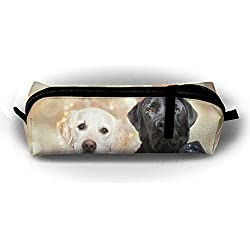 d4bab395f055e Golden Retriever Dog Pencil Case Pen Bag Stationery Pouch Cosmetic Bags  Pencil Holder Makeup Bag Cylindrical