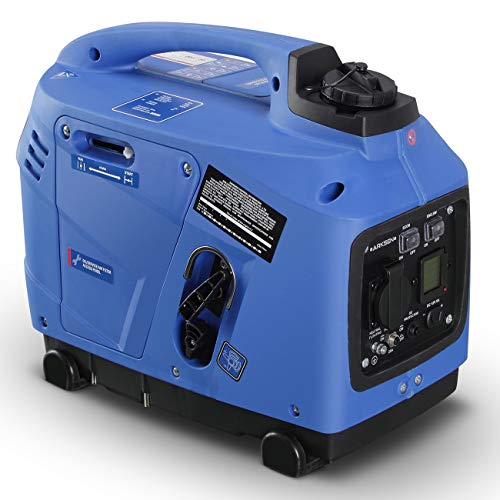 ARKSEN Inverter Portable Generator Super Quiet Peak 1250 Watts LCD Gasoline Powered (EPA CARB Compliant)