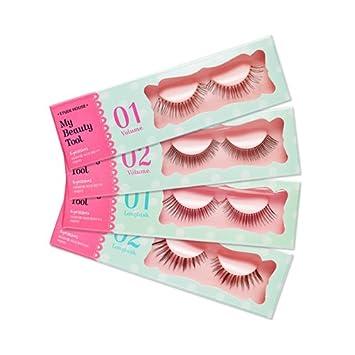daaffdc4078 Etude House - My Beauty Tool Eyelashes Step1 & Step 2 - False Lashes  handmade -