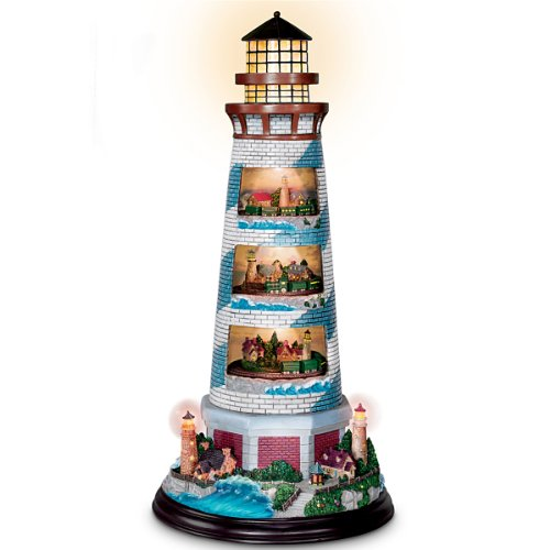 Thomas Kinkade's Masterpiece Tower Of Light Lighthouse Sculpture - Thomas Kinkade Lighted Cottage