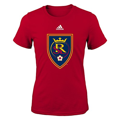 OuterStuff MLS Real Salt Lake Girls Short Sleeve Fashion Fit Tee Primary Logo Girls Short Sleeve Tee, X-Large, Dark - Primary Fashion Logo