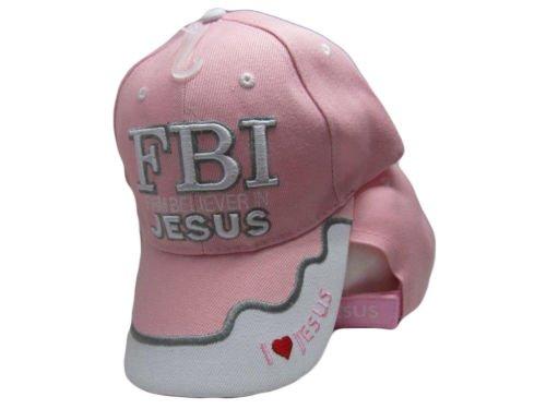 FBI 사무소에서 그리스도 신자 기독교 핑크 핑크 모자 수 놓은 모..
