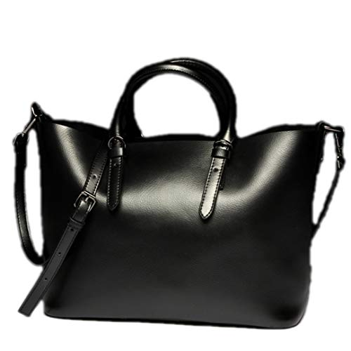 Sac à cuir bandoulière Sentsreny femmes en de sac en main à bandoulière véritable vachette Black Sac à cuir pour véritable qUwU8T