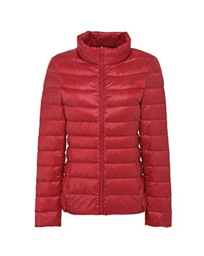 de Ligero Portátil Abrigo Mujer rojo Plumas Chaqueta Plumón LaoZanA qt7BwX