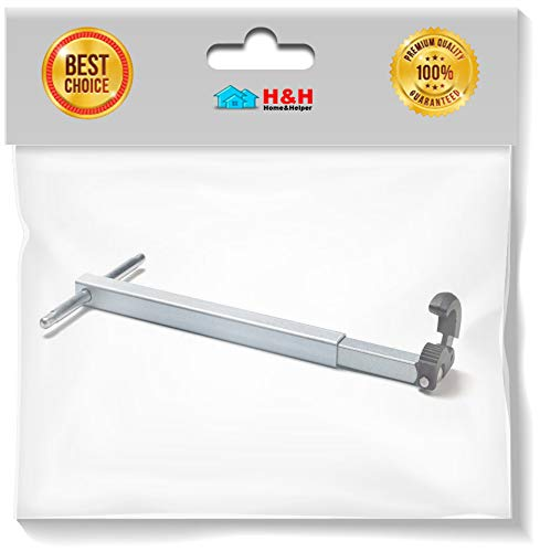 (H&H) New Plumber's Under Sink Basin Wrench 10in to 17in Telescoping Handle w/Large Jaw (1 Pack) by H&H