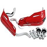 "TCMT Red 7/8"" 22mm Handlebar Hand Brush Guard Handguards For Honda XR CR XL TRX CRF 250 450 600 650"