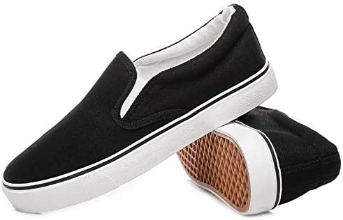 Women's Slip on Shoes Fashion Canvas Sneakers Low Top Casual Flats Shoes
