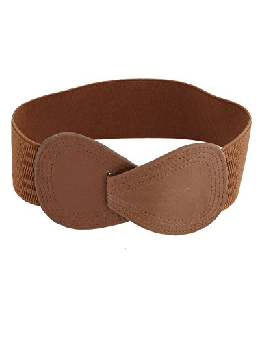 Lady Butterfly Knot Interlocking Buckle 6cm Wide Elastic Waist Belt (Interlocking Buckle)