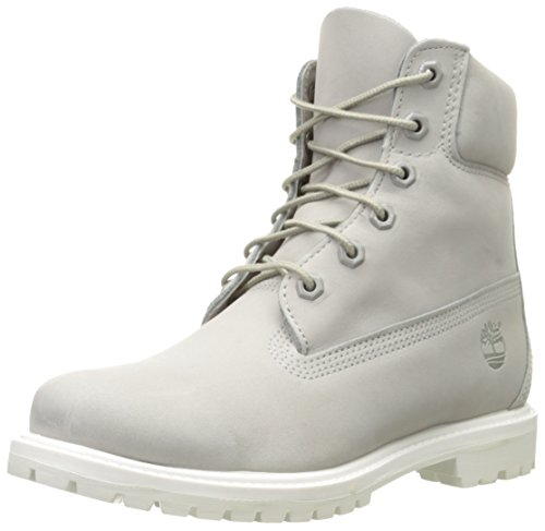Timberland Premium White Boot Grey Nubuck Bj9 6in Stivali Donna Nabuk Grigio Outsole Light Bianco Classici r5Ogqrx