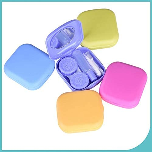 コンタクトレンズケース、ポケットミニアイレンズケース、トラベルボックスポータブルミラーボックスのキットコンタクトレンズトラベルケース cases (Color : Blue)