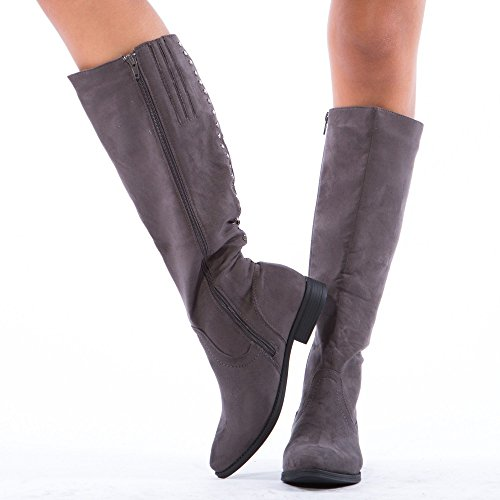 Ideal Shoes ,  Stivali donna, grigio (grigio), 39 EU