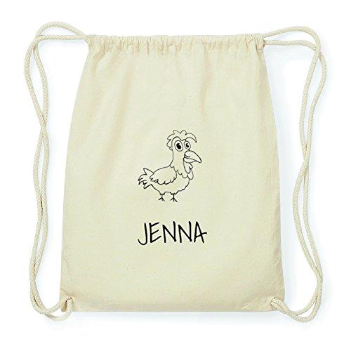 JOllipets JENNA Hipster Turnbeutel Tasche Rucksack aus Baumwolle Design: Hahn