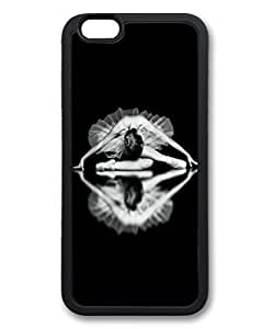 Black Case for iphone 6 Plus,Fashion Cool Art Ballet Dancer Custom Protective Soft TPU Back Case Cover for iphone 6 Plus