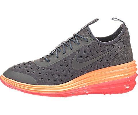 Nike Women's Wmns Lunarelite Sky Hi, DARK GREY/DRK GRY-BRIGHT MANGO-PUNCH, 8.5 M US