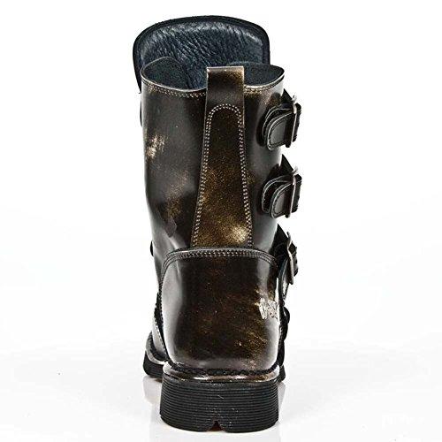 New Rock Comfort-Light nero Pelle Stivali M.1471-R6