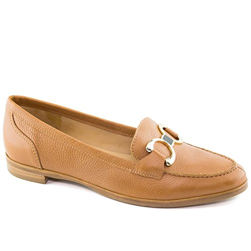 Driver in Grainy USA Tan Buckle Made Women's Loafer Leather Brazil Austin Driving Grainy Club Style SHr1XqS