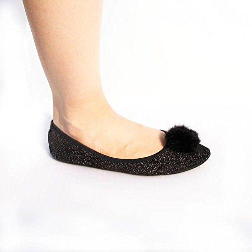 Happy Feet Ladies Fold up Shoes ecMdzb