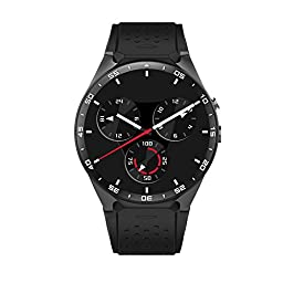 Smartlife 3G WIFI Smartwatch Phone Bluetooth Smart Watch Android 5.1 SIM Card with GPS 2M Camera,Heart Rate, Google map, Google Play, Anti-Lost (Black)