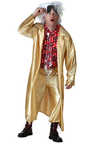 Plus Size Back to The Future II Doc Brown Costume 2X]()