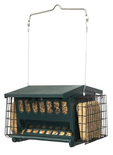 Cherry Valley Feeder Hopper Feeder with Suet - Metal Hopper
