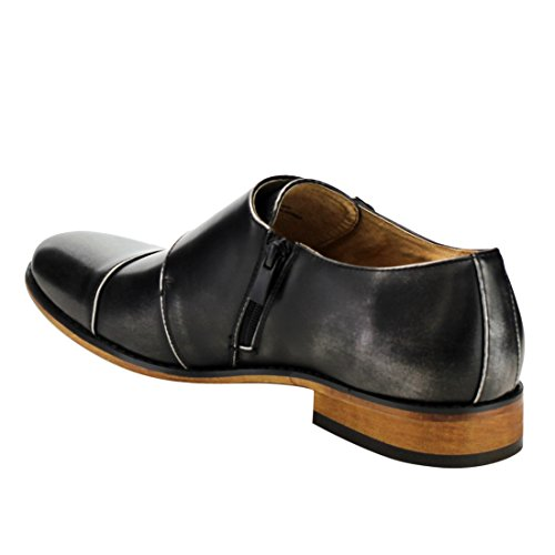 Uv Signature Ea27 Mens Chic Cap Top Monk Strap Scarpe Da Corsa Run Half Size Big Grey