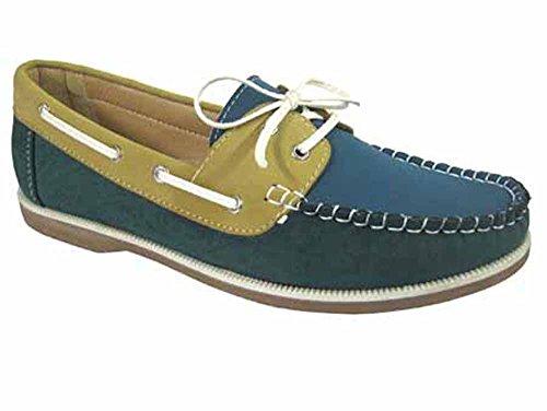 Nubuck Mocassins Tailles 4 Cuir beige 8 Enfiler À Chaussures Coolers Green Faux Femmes Bateau qwIBxSt1nW