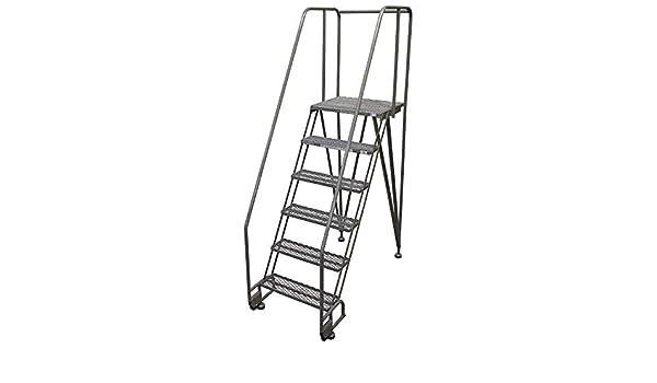 Escalera de 6 peldaños, inclinación y rodamiento, escalón serrado, 90 pulgadas de altura total, 350 libras Capacidad de carga: Amazon.es: Bricolaje y herramientas
