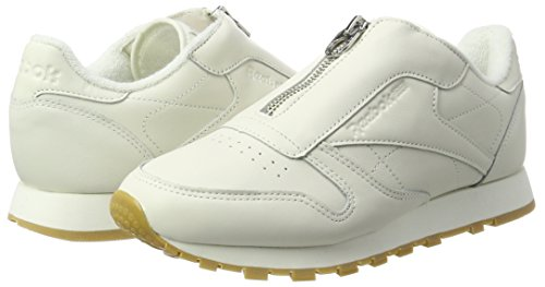 Zapatillas Reebok Classic Leather Zip Para Mujer Blanco Blanco