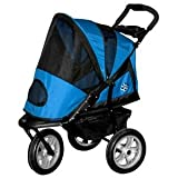 Pet Gear AT3 Generation 2 All-Terrain Pet Stroller for cats and dogs up to 60-Pounds, Blue Sky, My Pet Supplies