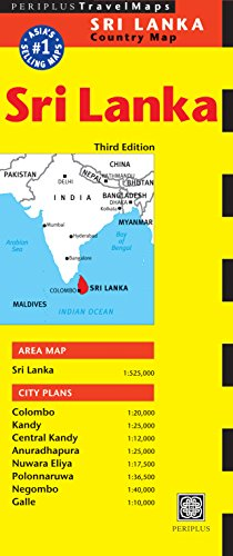 Sri Lanka Travel Map Third Edition (Periplus Travel Maps: Country Map)