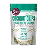Suncore Foods - Organic Toasted Coconut Chips, 8oz Bag, Vegan, Gluten Free and Non-GMO, Healthy Snack