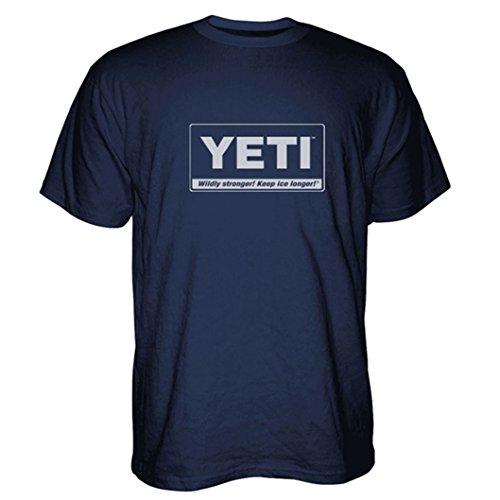 YETI Men's Billboard T-Shirt Short Sleeve Navy Blue XXX-Large