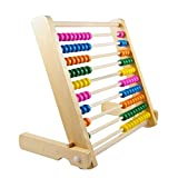 Montessori Educational Wooden Abacus 100 Beads Baby Toy Early Childhood Preschool Training Counting Number Frame Maths Aid ,For 1 to 8 Years Old Toddlers (1pc)
