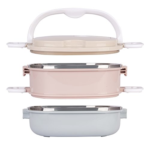 Mr.Foodie Stainless Steel Lunch Box | Improved Clips | Leak Proof Bento Container with Compartments Suitable for Kids & Adults by Mr.Foodie