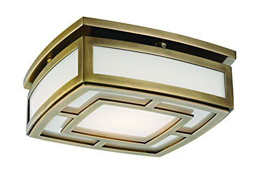 Hudson Valley Lighting LED Flush Mount Hudson Valley 3710-Agb Contemporary Modern Elmore Collection in Brass-Antiquefinish, 3 Light, Distressed Bronze Finish (Bronze Finish Distressed Collection)