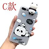 Mihaha From iphone 7 Plus Cute Cartoon Panda Bear Silicone Case Smartphone For Apple Iphone 7 Plus Capa Fundas Back Panda silicone case Cover (C)