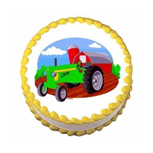 Farm Tractor ~ Edible Image Cake / Cupcake Topper