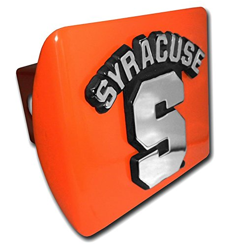 Syracuse ALL METAL Orange Hitch Cover (Cover Trailer Pewter Hitch)