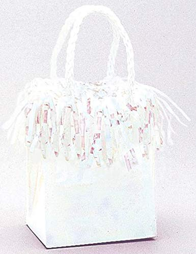 (Mini Gift Bag Shaped Balloon Weight, Iridescent)