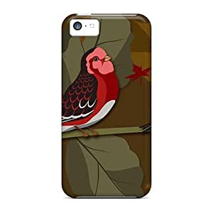 Cute Appearance Cover/tpu Falls Birds Case For Iphone 5c