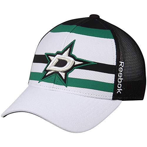Reebok NHL Dallas Stars White/Black Face Off Trucker Hat - One Size VM05Z