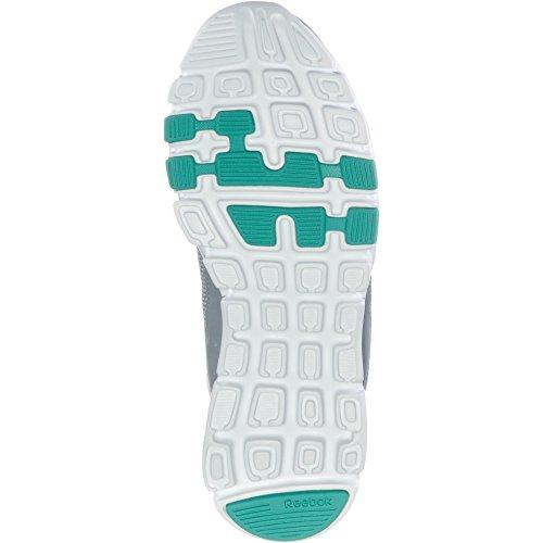 Reebok Yourflex Trainette 10 MT, Zapatillas de Deporte Para Mujer, Gris (Cool Shadow/White/Solid Teal 000), 39 EU